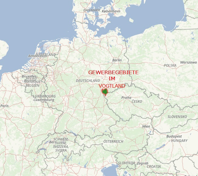 Übersichtskarte Vogtlandkreis